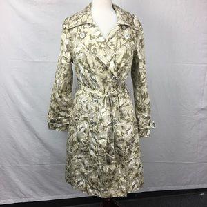 New York & Compnay Tan Camo Print Long Trench Coat
